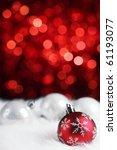 Christmas Ball On Abstract...
