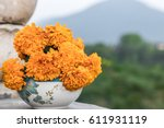 Marigold Flowers In The Bowl ...