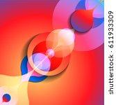abstract vector raindrop card.... | Shutterstock .eps vector #611933309