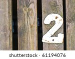 number on painted background ... | Shutterstock . vector #61194076