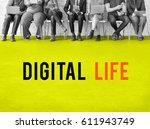 internet network technology... | Shutterstock . vector #611943749