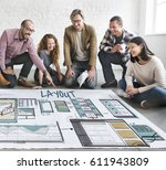 web template layout draft sketch | Shutterstock . vector #611943809
