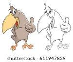 vector illustration of a cute... | Shutterstock .eps vector #611947829