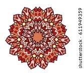 mandala. ethnic decorative... | Shutterstock .eps vector #611949359