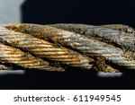 Thick Steel Rope Close Up....