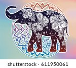 beautiful silhouette of indian...   Shutterstock .eps vector #611950061