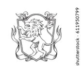 vector image of a heraldic... | Shutterstock .eps vector #611950799