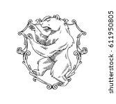 vector image of a heraldic... | Shutterstock .eps vector #611950805