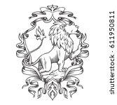 vector image of a heraldic... | Shutterstock .eps vector #611950811
