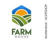 farm house concept logo full... | Shutterstock .eps vector #611952629