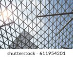 low angle view of steel frame... | Shutterstock . vector #611954201