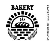 bakery products label. raster... | Shutterstock . vector #611956955