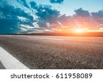 asphalt road and beautiful sky... | Shutterstock . vector #611958089