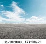 asphalt road and sky cloud...   Shutterstock . vector #611958104
