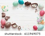 Easter Eggs And Pastry On...