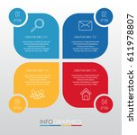 info graphic template for... | Shutterstock .eps vector #611978807