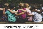 Group Kindergarten Kids Friends Arm - Fine Art prints