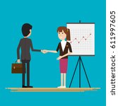 businessmen shaking hands...   Shutterstock .eps vector #611997605