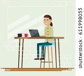 creative people working co...   Shutterstock .eps vector #611998055