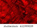 Abstract Red Fractal Backgroun...