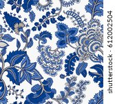 seamless pattern with fantasy... | Shutterstock .eps vector #612002504
