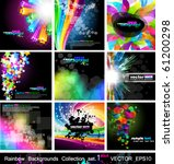 rainbow backgrounds collection  ... | Shutterstock .eps vector #61200298