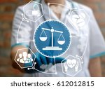 medical law and justice concept.... | Shutterstock . vector #612012815