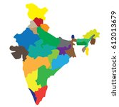 map countries india | Shutterstock .eps vector #612013679