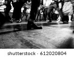 swing dancers in black and... | Shutterstock . vector #612020804