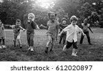 group of kindergarten kids... | Shutterstock . vector #612020897