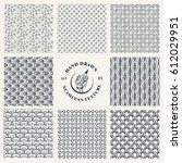 set of endless geometric... | Shutterstock .eps vector #612029951