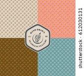 hand drawn seamless texture set.... | Shutterstock .eps vector #612030131
