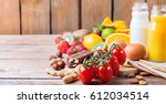 selection of allergy food ... | Shutterstock . vector #612034514