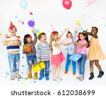 group of kids celebrate party...