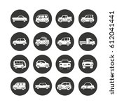 car icon set in circle buttons | Shutterstock .eps vector #612041441