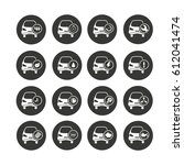 car icon set in circle buttons | Shutterstock .eps vector #612041474