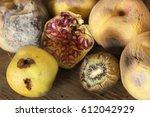 moldy fruit   Shutterstock . vector #612042929
