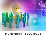 3d illustration of people... | Shutterstock . vector #612045131