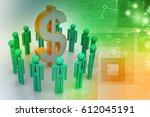 3d illustration of people... | Shutterstock . vector #612045191