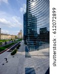 Small photo of Milano/Italy, 10th August 2014: Skyline from Piazza Alvar Aalto, Milano Porta Nuova - Italy