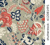 seamless pattern with fantasy... | Shutterstock .eps vector #612081491