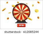 wheel of fortune with gold... | Shutterstock .eps vector #612085244