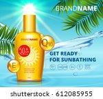 sunblock ads template  sun... | Shutterstock .eps vector #612085955