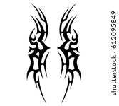 tattoo sketch tribal vector... | Shutterstock .eps vector #612095849