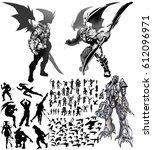 digital illustration of fantasy ... | Shutterstock . vector #612096971