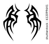 tattoo sketch tribal vector... | Shutterstock .eps vector #612099641