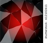 red geometric background vector | Shutterstock .eps vector #612102611