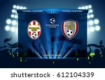football   soccer match design | Shutterstock .eps vector #612104339