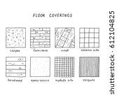 hand drawn floor coverings.... | Shutterstock .eps vector #612104825