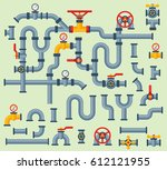 details pipes different types... | Shutterstock .eps vector #612121955